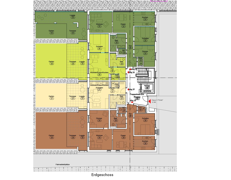 """Haus 3 """"Erde"""" - Alle Wohnungen verkauft, TG-Plätze nochverfügbar"""
