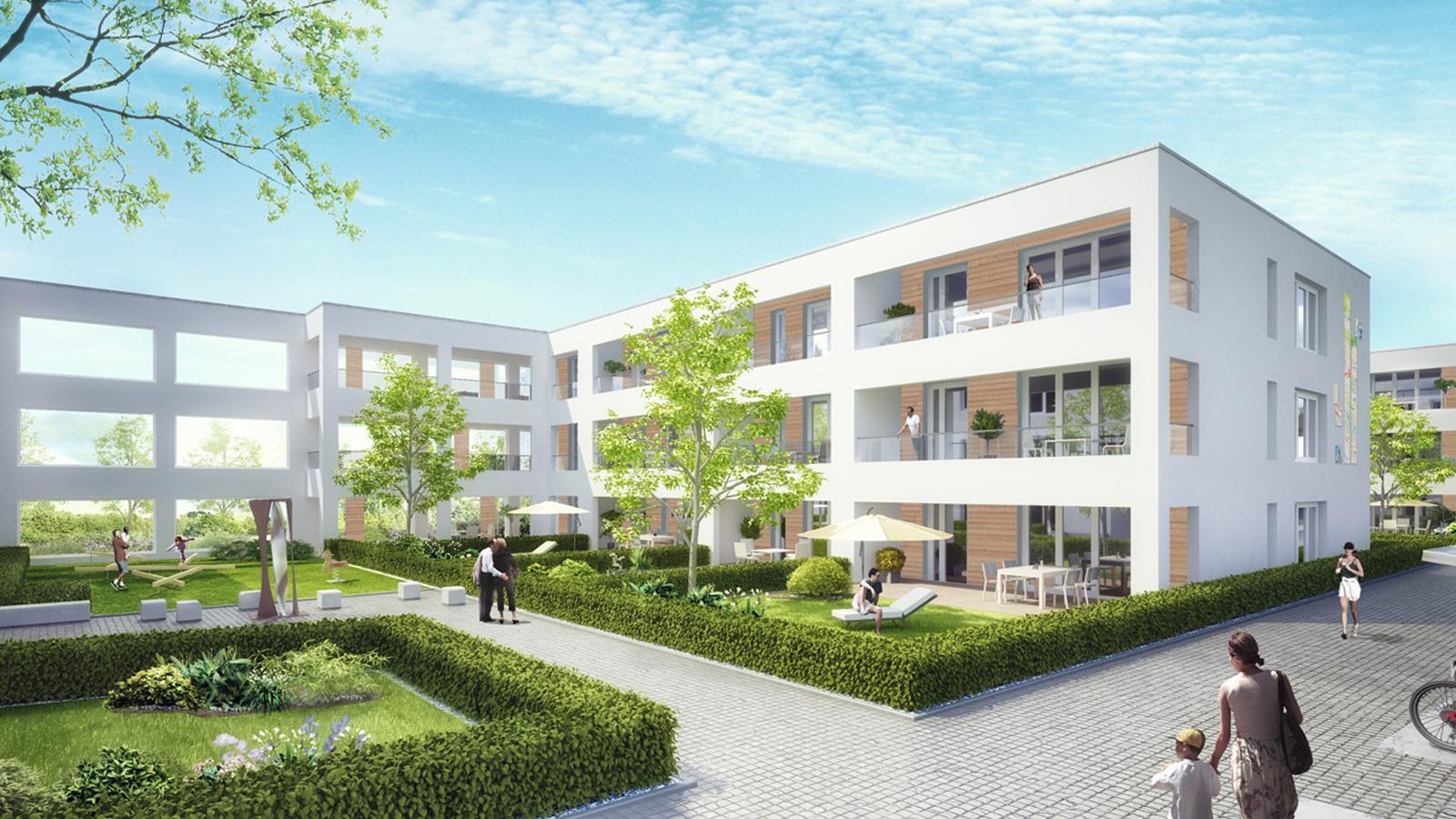 """Bild1 Wohnquartier """"elements"""" Karlsruhe-Knielingen"""