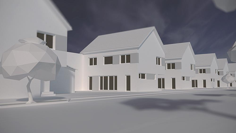 8Einfamilienhäuser Hausansicht 8 Einfamilienhäuser in Stutensee-Blankenloch
