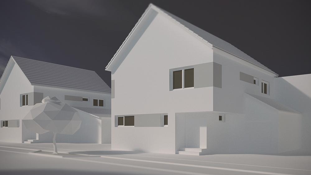 8Einfamilienhäuser Straßenansicht 8 Einfamilienhäuser in Stutensee-Blankenloch