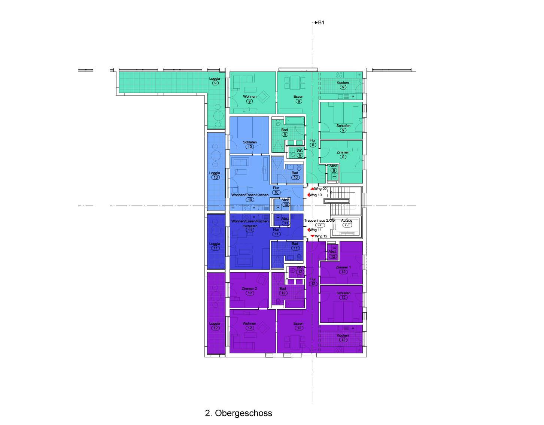 """Haus 1 """"Wasser"""" - Alle Wohnungenreserviert"""
