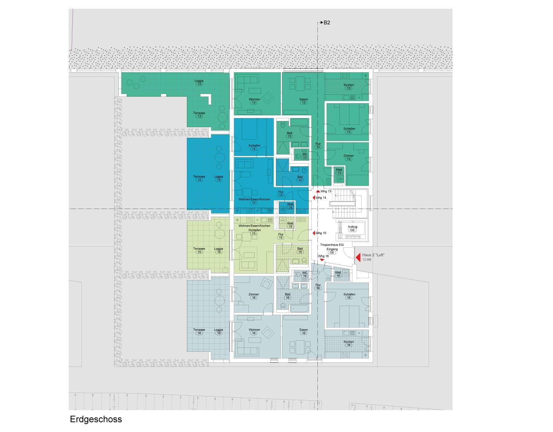 """Haus 2 """"Luft"""" - Alle Wohnungenreserviert"""